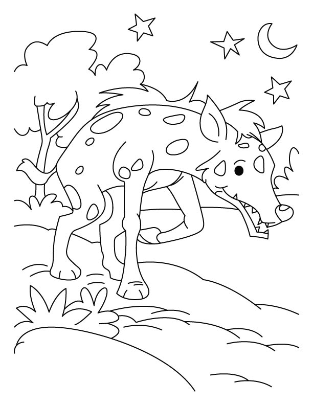 Desperate jackal coloring pages