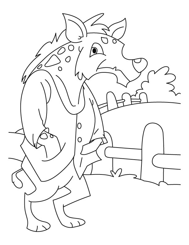 Jackal feeling cold coloring pages