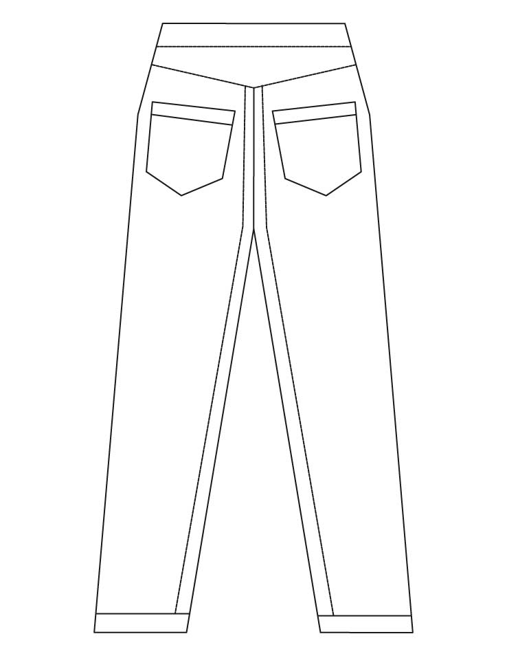 Jeans with two pockets coloring pages | Download Free Jeans with two pockets coloring pages for ...