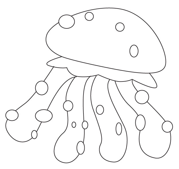 jelly fish coloring sheet