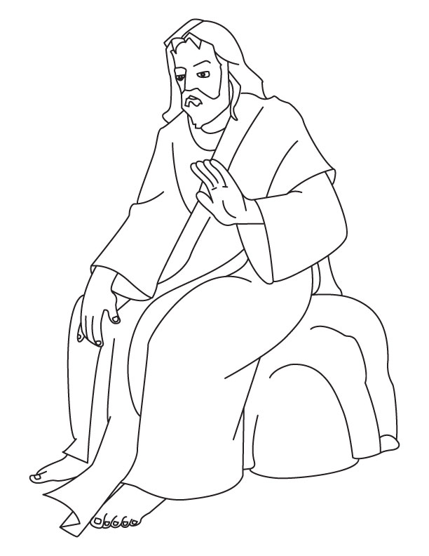 Free Coloring Pages Of Jesus Coloring Page Jesus