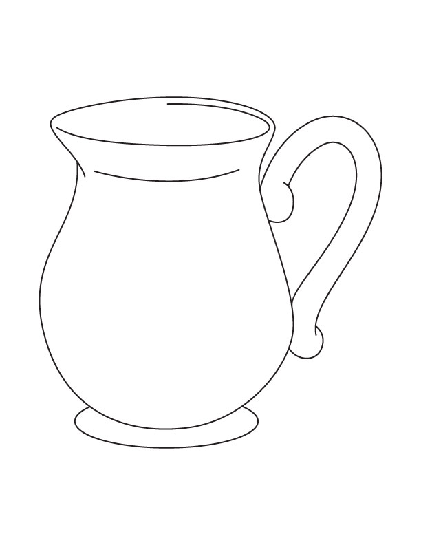 j for jug coloring pages - photo #4