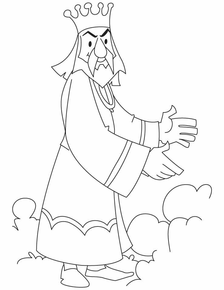 A royal king coloring pages  Download Free A royal king coloring