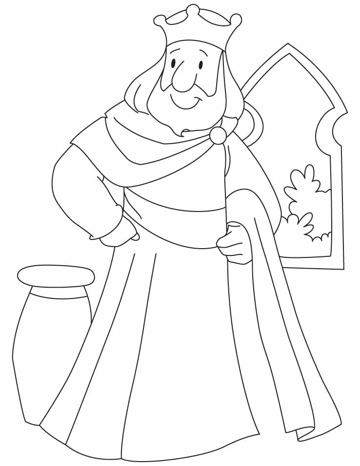 Free Coloring Pages Of Kings Crown King Coloring Pages