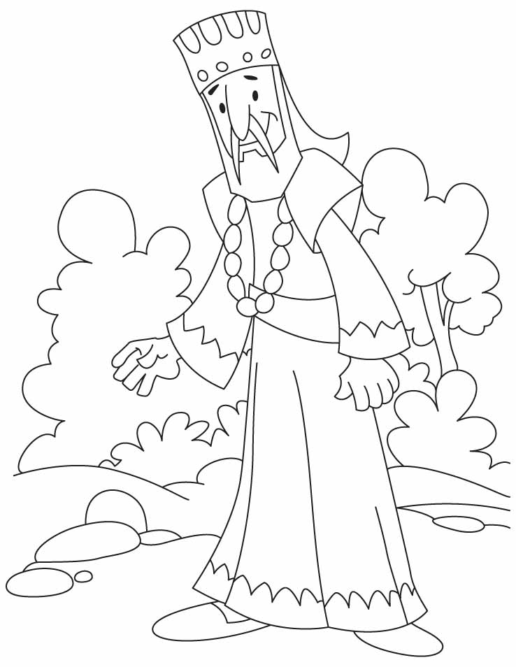 An African King Coloring Pages