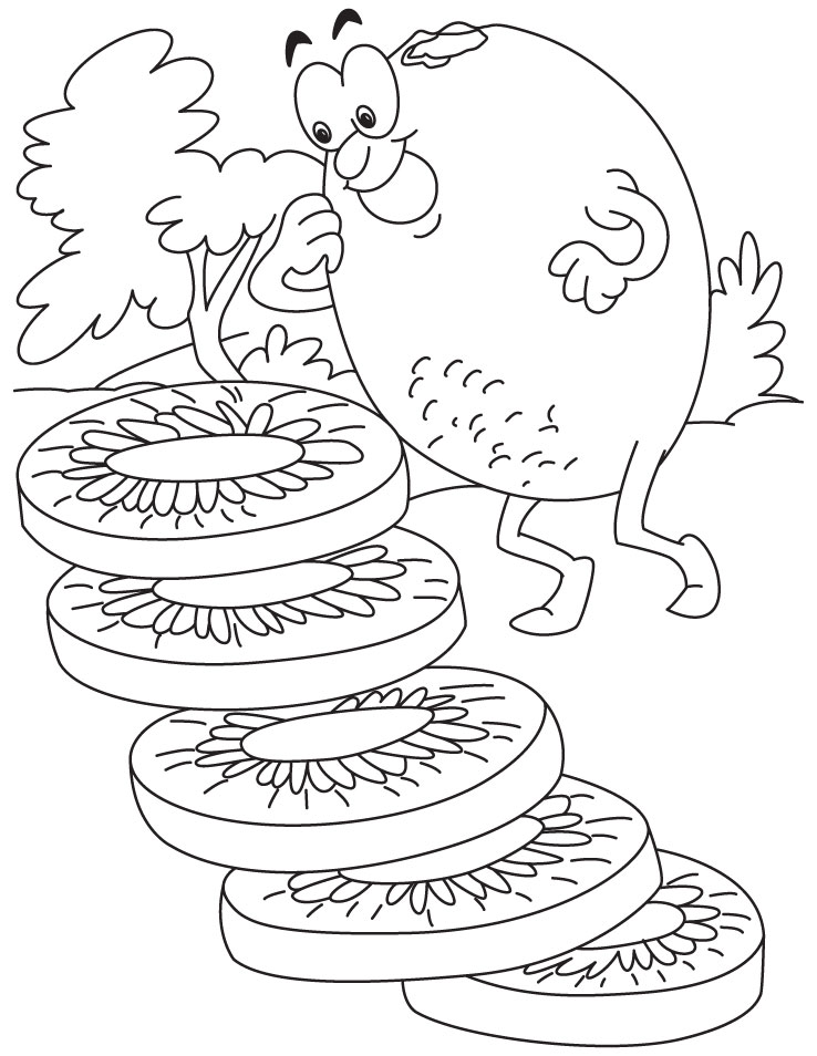 The Kiwi Fruit Coloring Pages