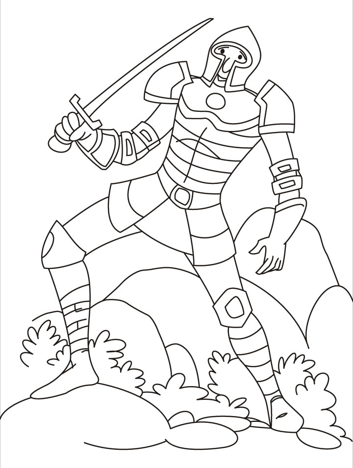 Dragon knight coloring coloring pages for Knight coloring page