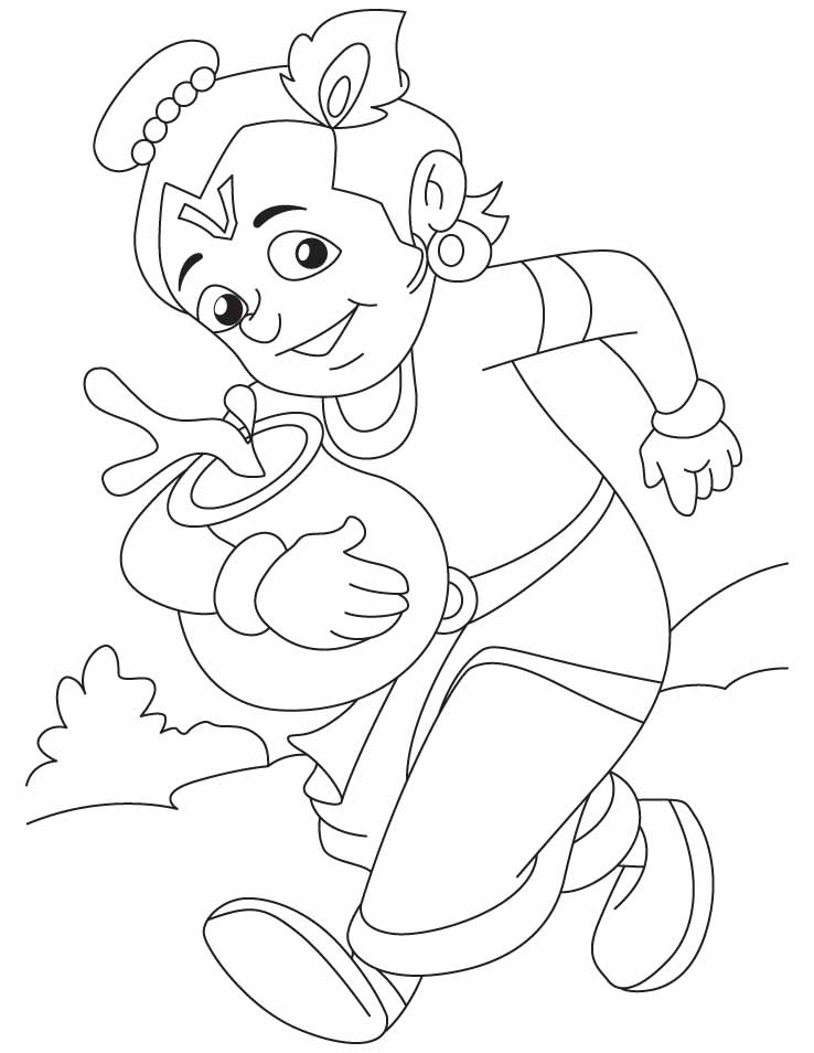 coloring pages on god krishna - photo#33