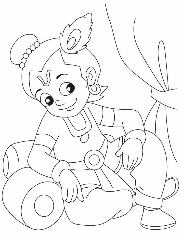 krishna pages for coloring - photo#20