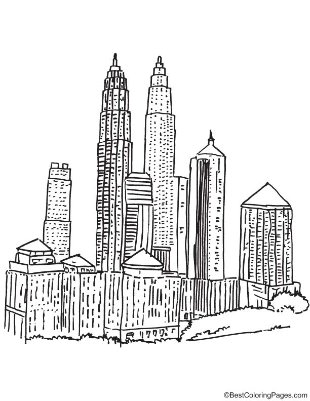 Kuala Lumpur coloring page Download Free Kuala Lumpur