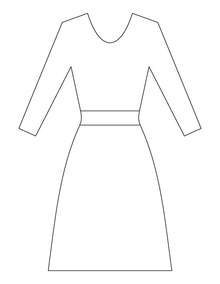 free dresses coloring pages - photo#33