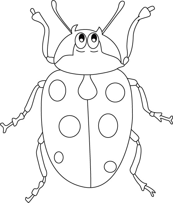 Wants ladybug hug coloring pages