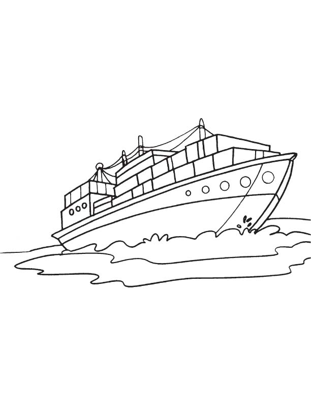 Largest container ship coloring page