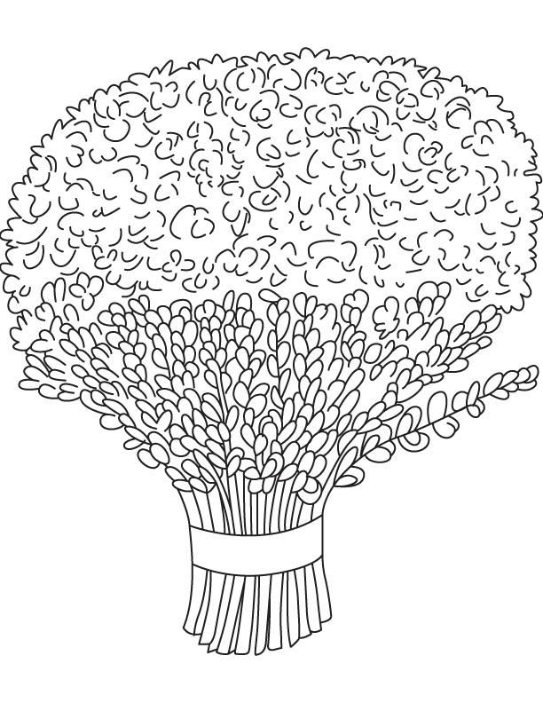 lavender bouquet coloring page