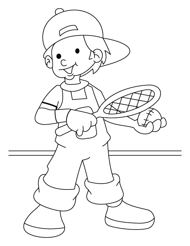 lawn tennis player coloring page