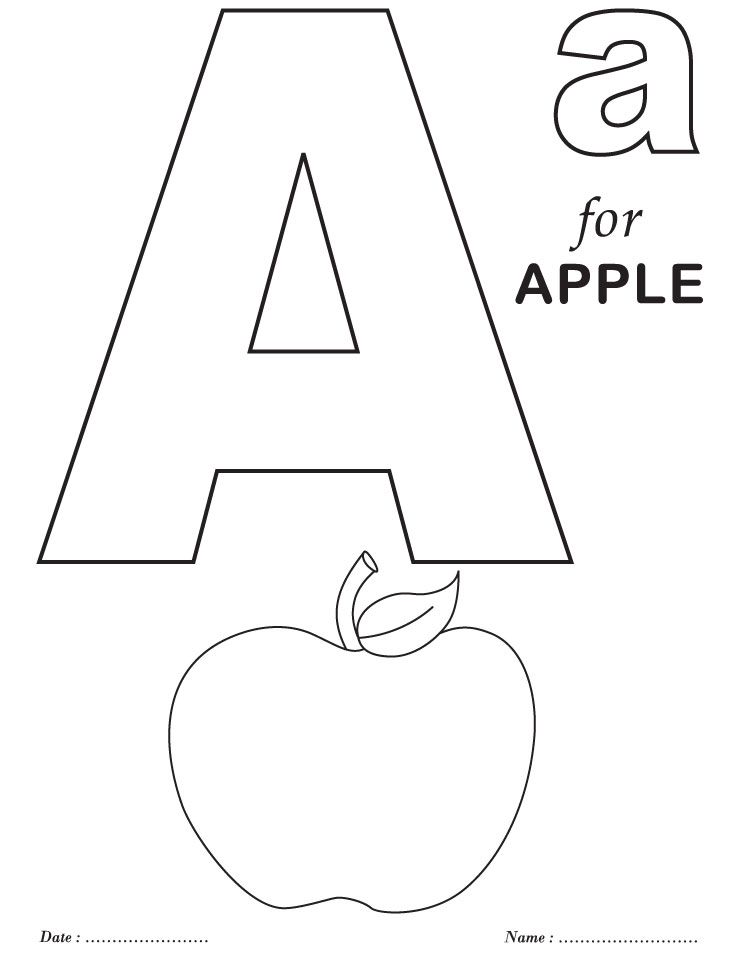 letter a coloring pages free - photo#17