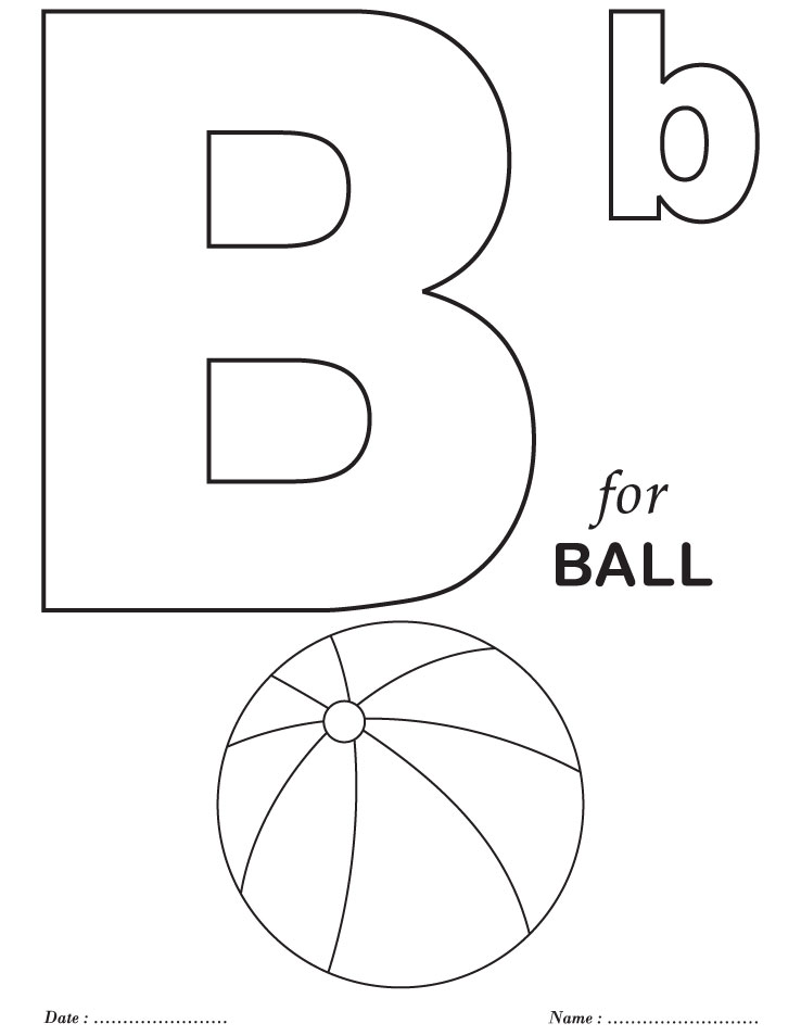coloring pages letter b - photo#5