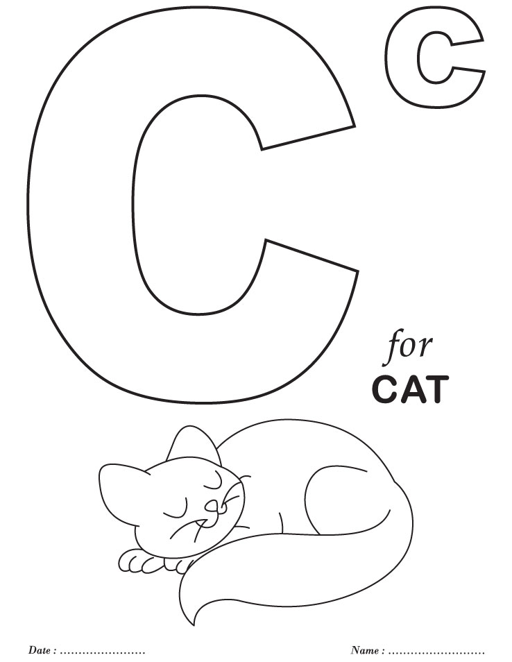 Printables alphabet c coloring sheets download free for Abc coloring pages for kids printable