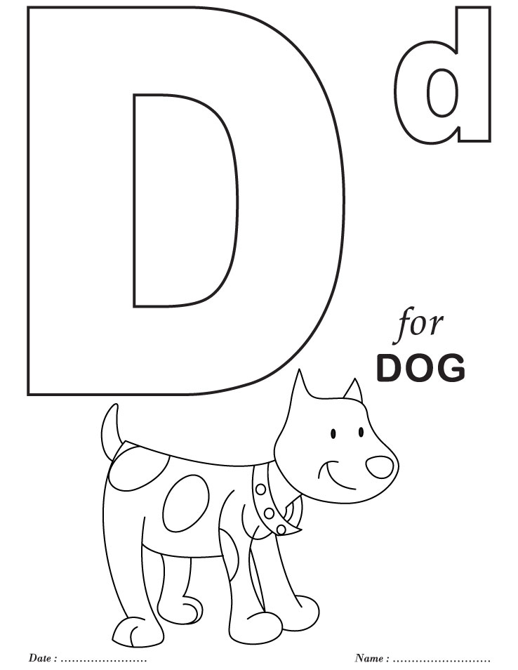 Printables Alphabet D Coloring Sheets