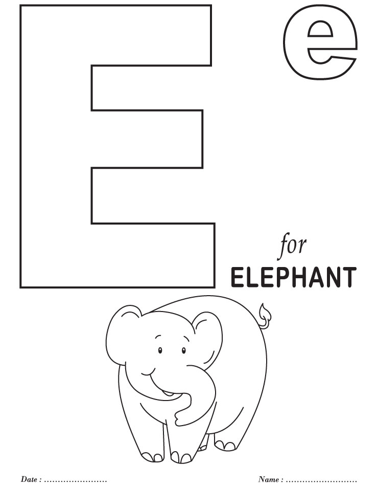 printables alphabet e coloring sheets