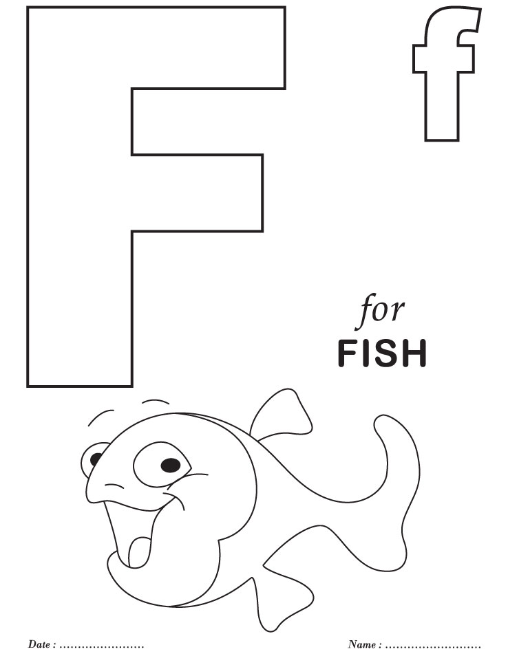 Free Coloring Pages Of F Worksheets Alphabet Coloring Pages Free Printable
