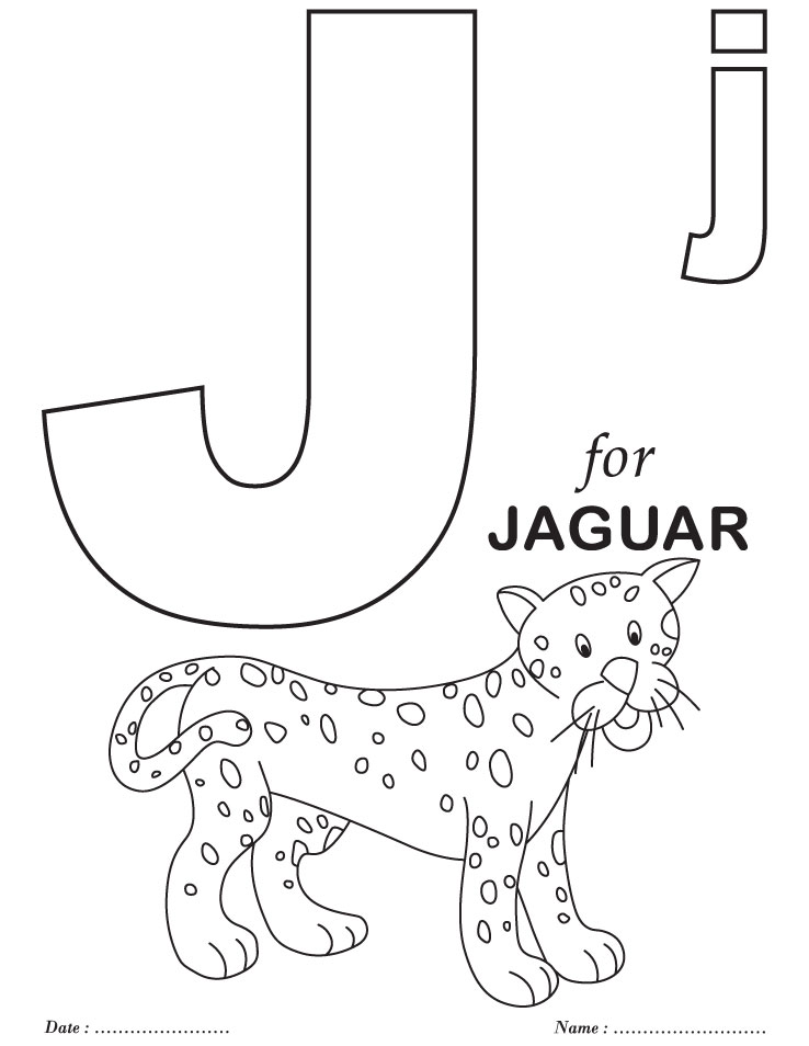 j is for coloring pages - photo #8