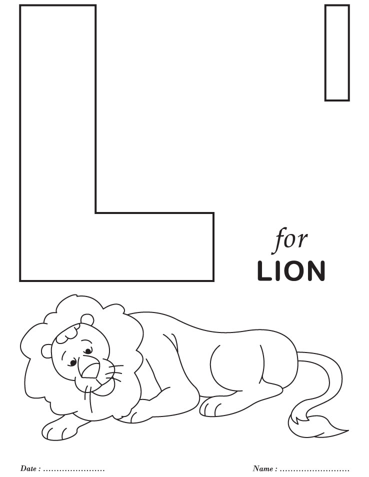 Free Coloring Pages Of Letter L Worksheet
