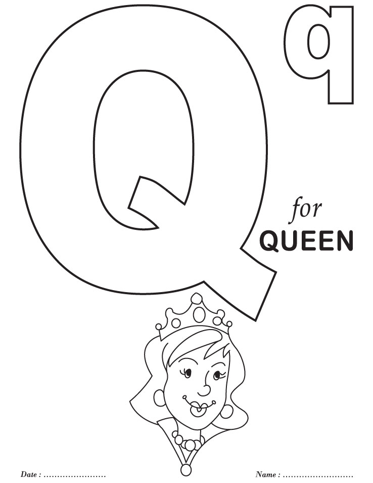q coloring pages for kids - photo #44