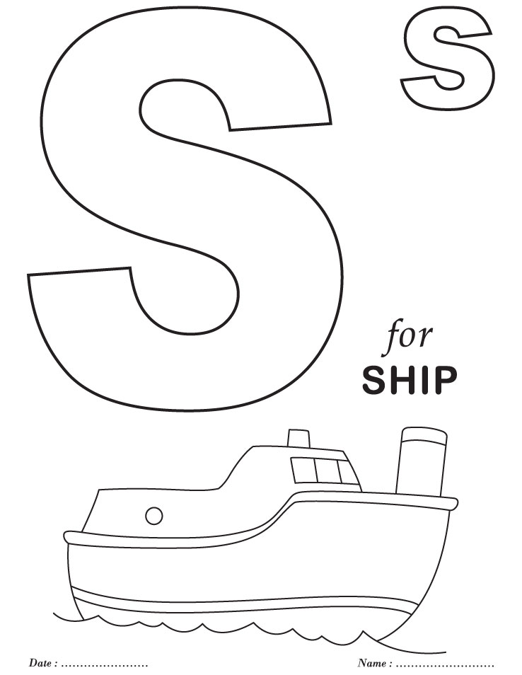printables alphabet s coloring sheets - Letter S Coloring Pages