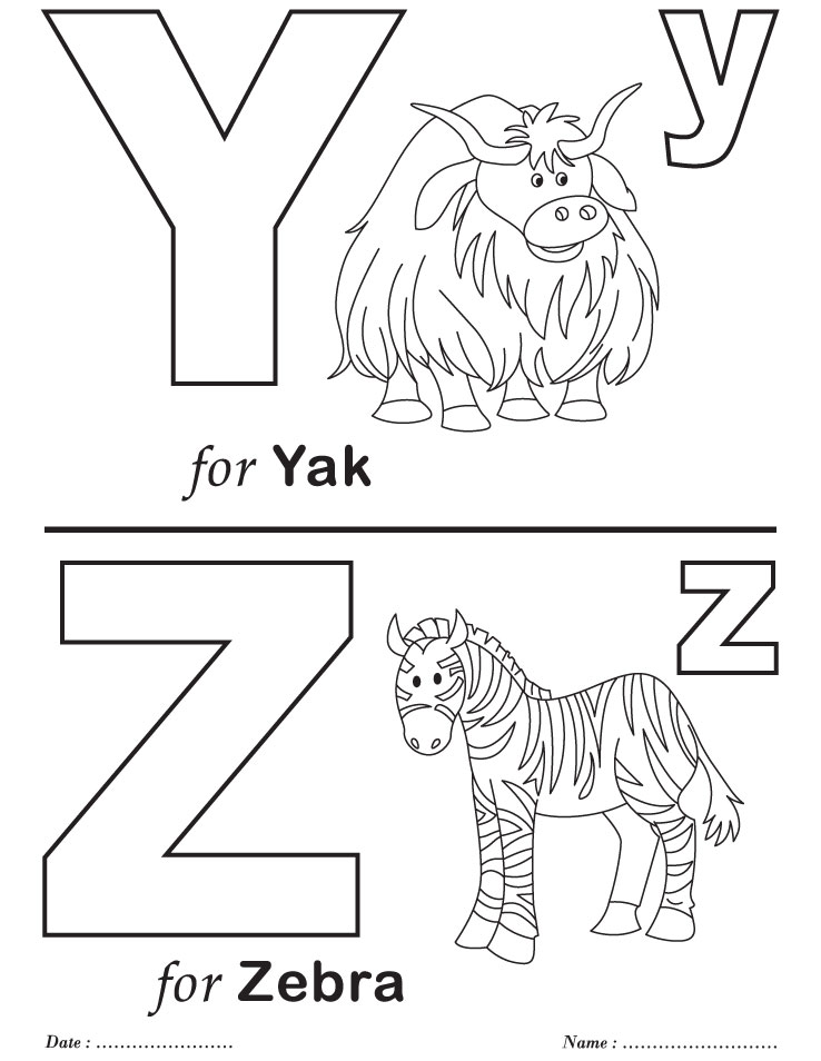 Printables Alphabet Y Z Coloring Sheets Download Free Coloring Sheets For Letter Y Yellow