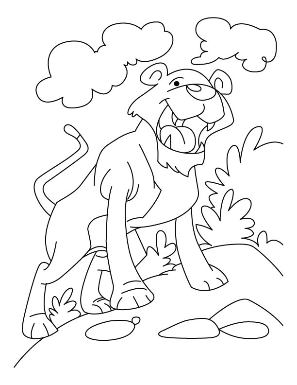 Leopard in its own territory coloring pages