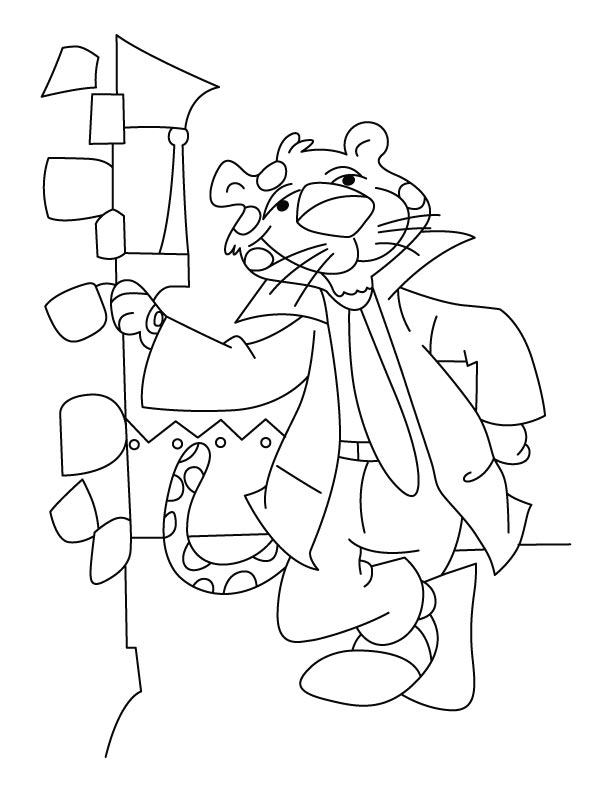 Leopard a salesman coloring pages