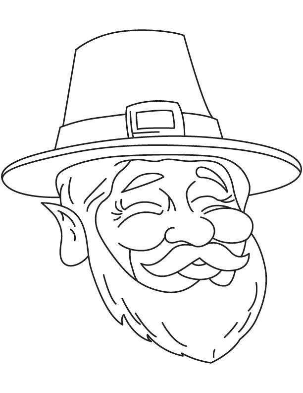 Leprechaun Head Coloring Page Page of 1