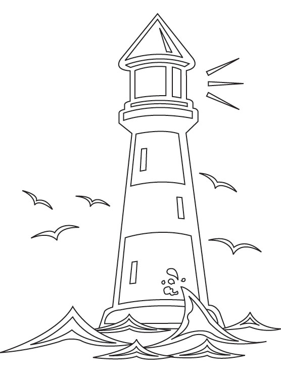 Colouring Sheet Lighthouse : Light house coloring page download free