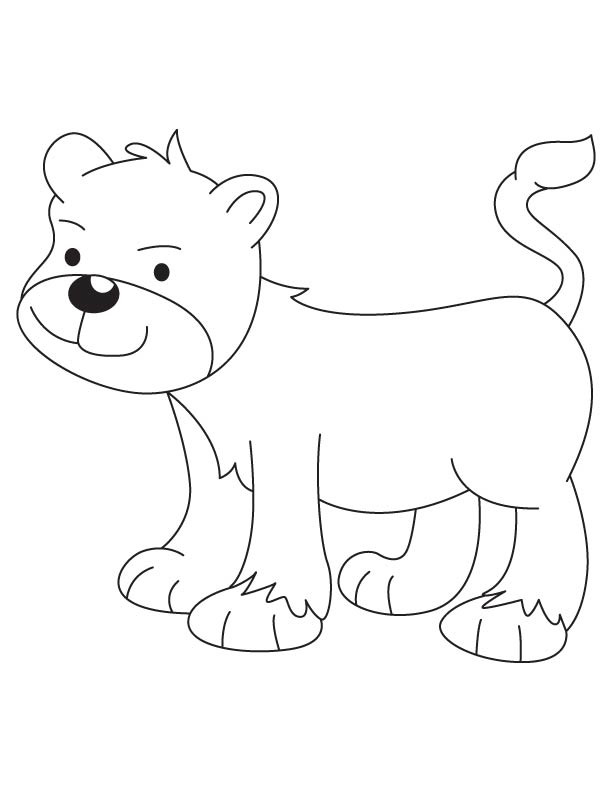free lion cub coloring pages - photo#7