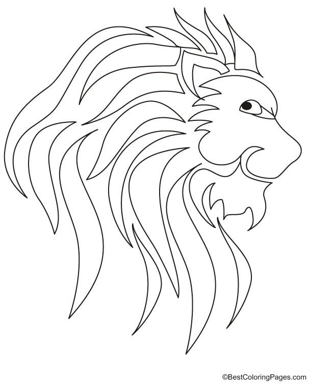 Lion king logo coloring page