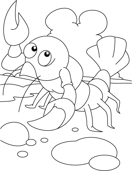 Exercising Lobster Coloring Pages