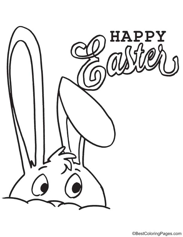 Long ears Easter bunny coloring page