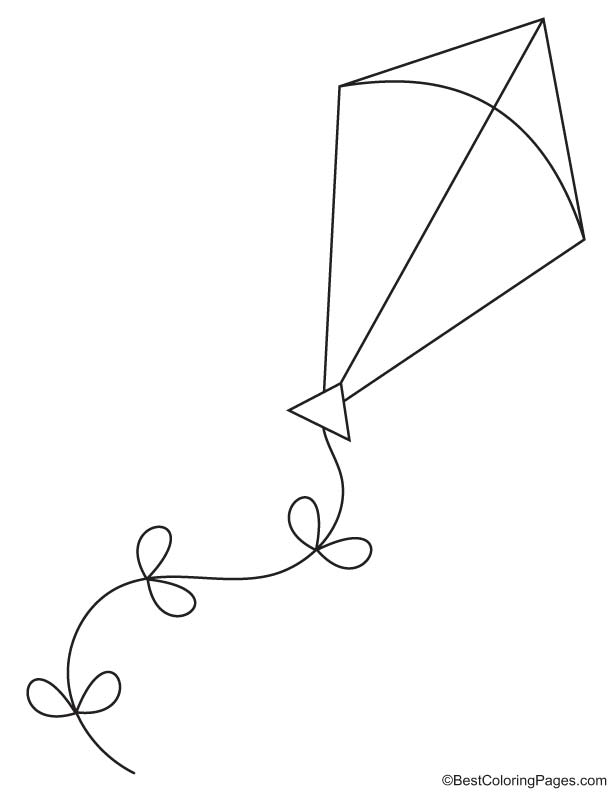 Long kite coloring page | Download Free Long kite coloring page ...