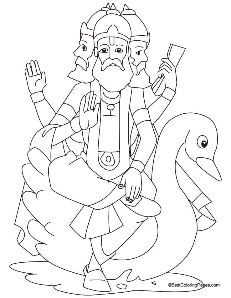 Lord Brahma coloring page