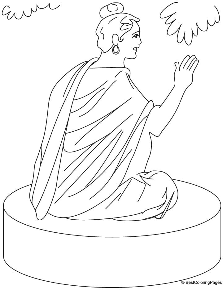 Lord Buddha coloring pages