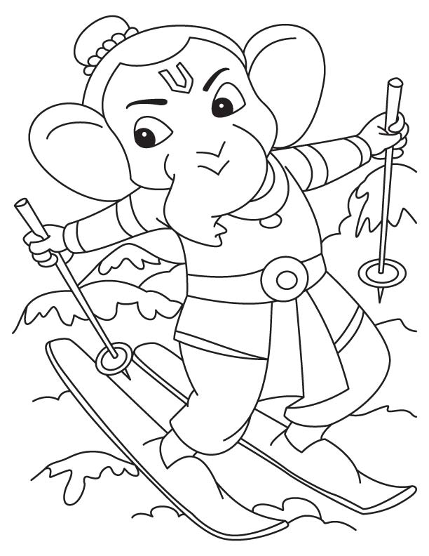 Mooshak free colouring pages for Ganesha coloring pages