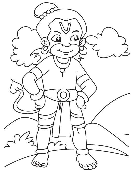 Lord hanumana coloring page Download