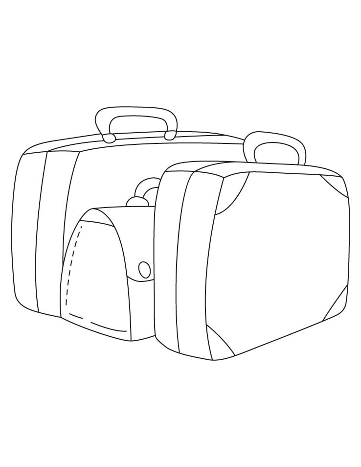 Luggage Coloring Pages Download Free Luggage Coloring Pages For Kids Best Coloring Pages