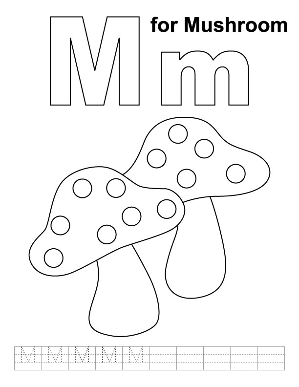 m for monkey coloring pages - photo #41