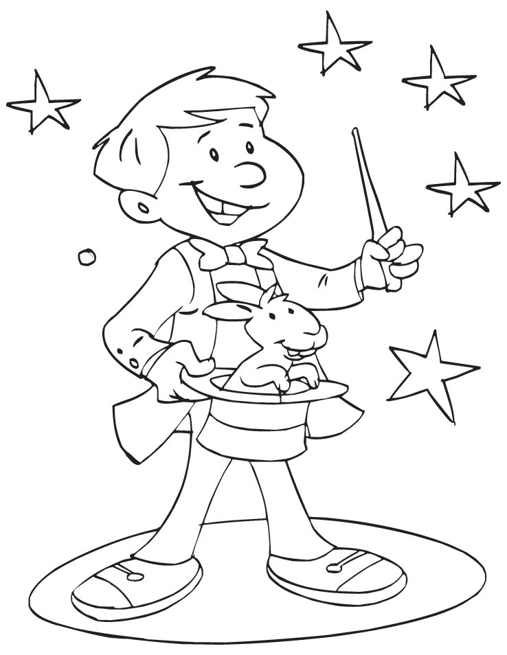 coloring pages magician - photo#1