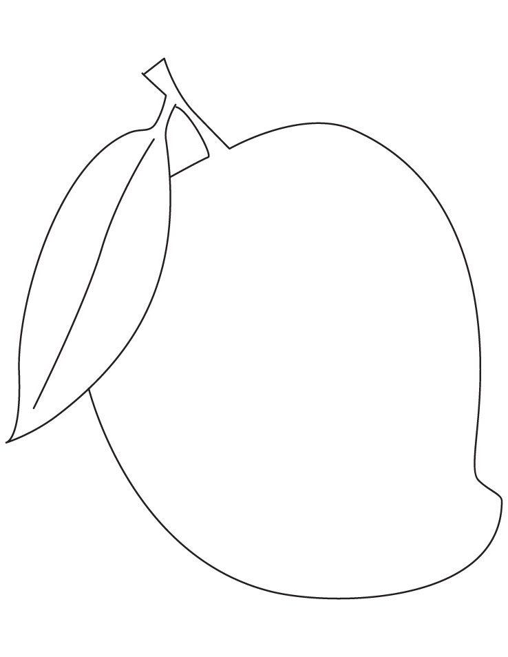 Mango fruit coloring pages  Download Free Mango fruit coloring