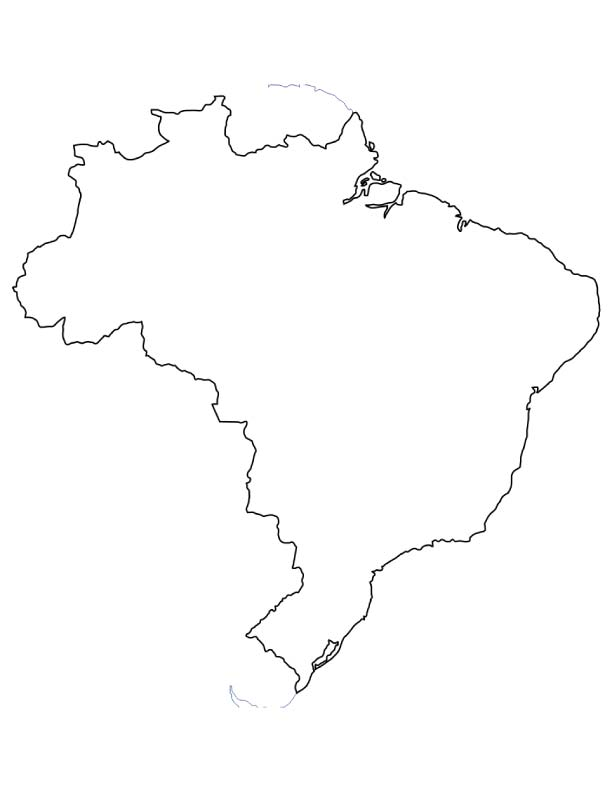 Map of Brazil coloring page