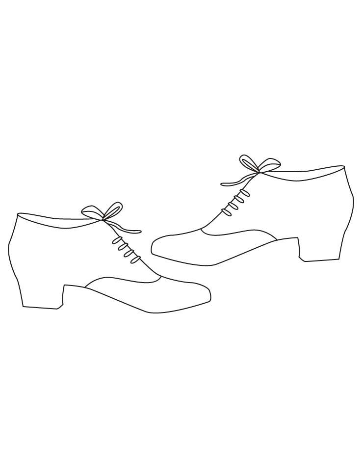 Mens shoes coloring pages