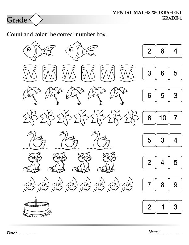 number and counting coloring pages - photo#16